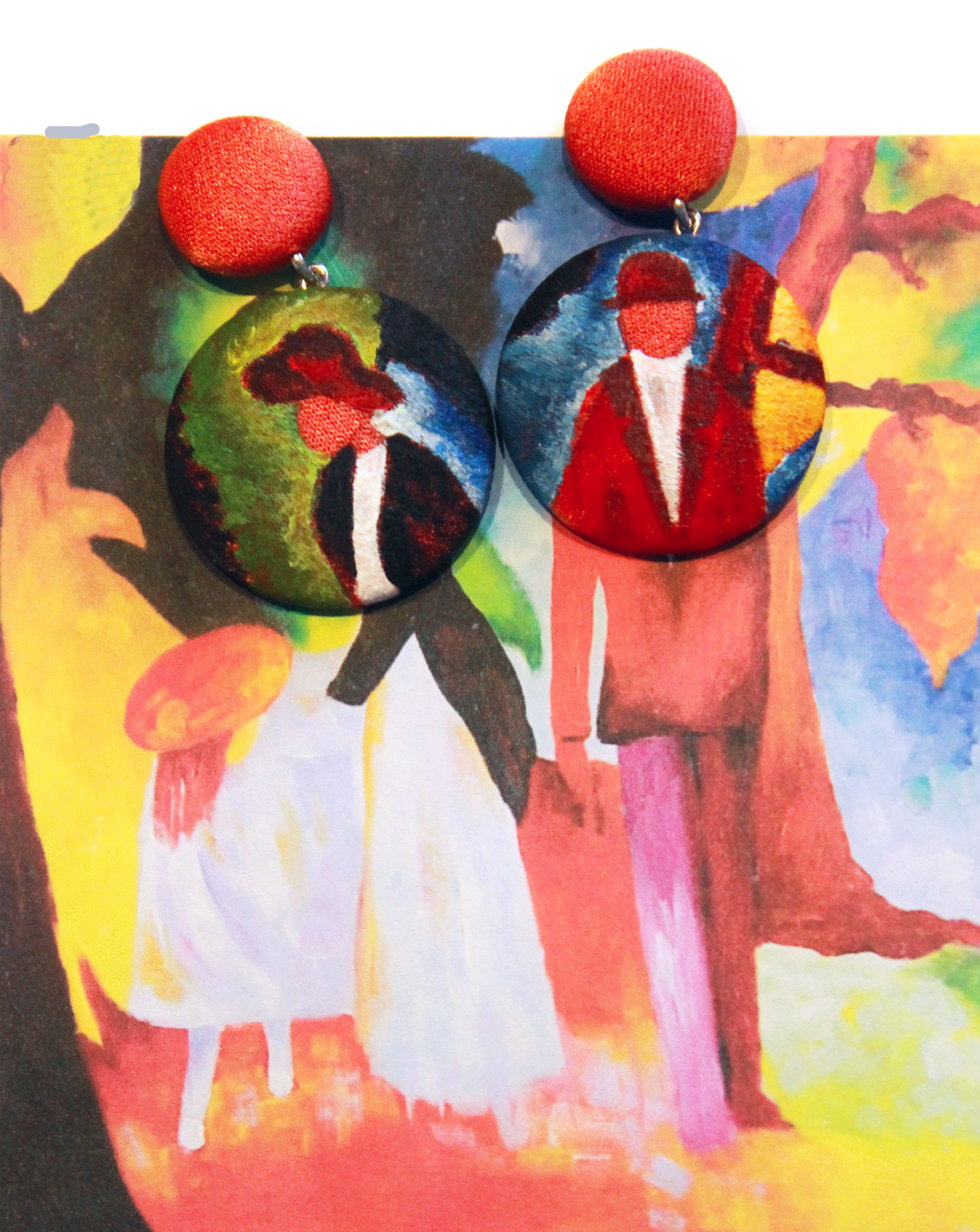People at the Blue Lake_August Macke