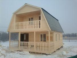 Дачный дом с террасой в Нижнекмске