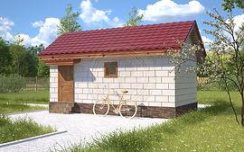 Дешевые садовые бани 3х6 из керамзитобетонных блоков Казань