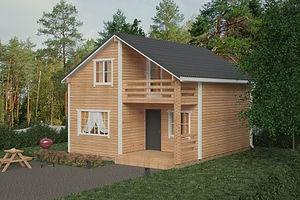 Проекты деревянных домов и коттеджей под ключ.Дома эконом класса