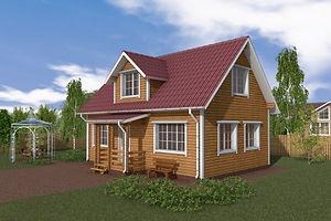 Бюджетный дом для молодой семьи.Недорогие дома из бруса в Казани.