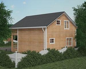 Простые проекты домов из бруса