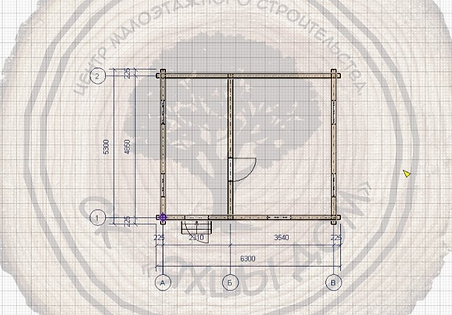 Дачный дом из профилированного бруса 6х5 Казань