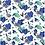 Thumbnail: BeeWrap Motif Iris Bleu