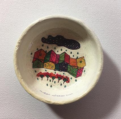 マルジャーンの小皿絵壁掛け4