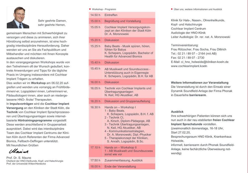 CI Workshop Programminfo