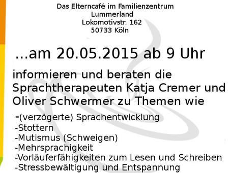 Einladung zum Elterncafé Special im Familienzentrum Lummerland