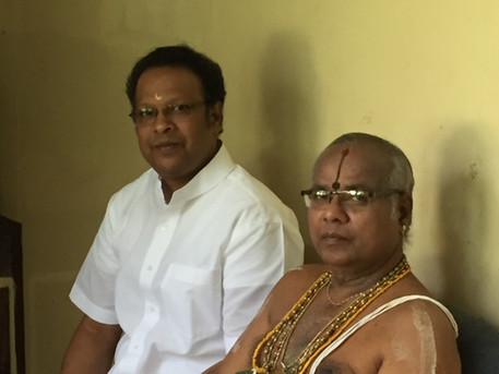 with Vidwan Srimushnam V Rajarao