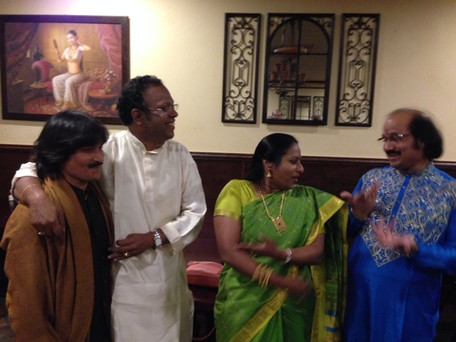 After the concert with Ronu ji and friends