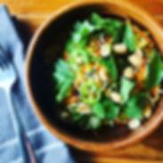 VEGAN!! Vietnamese rice noodle salad wit