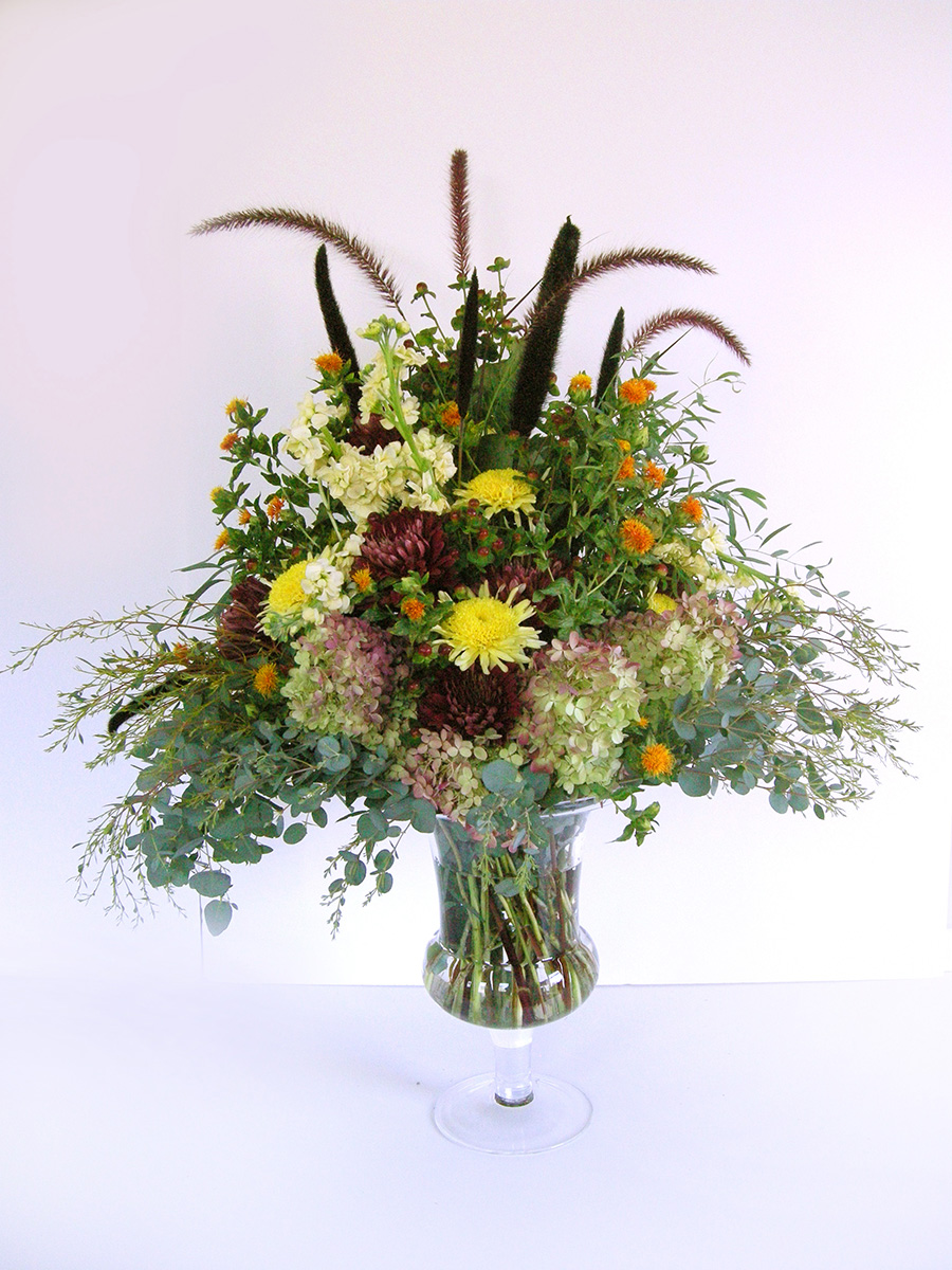 LARGE ARRANGEMENT WITH CATTAILS