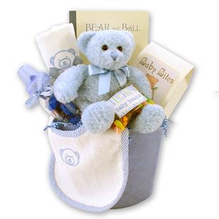 Bear Necessities Baby Boy Gift Basket