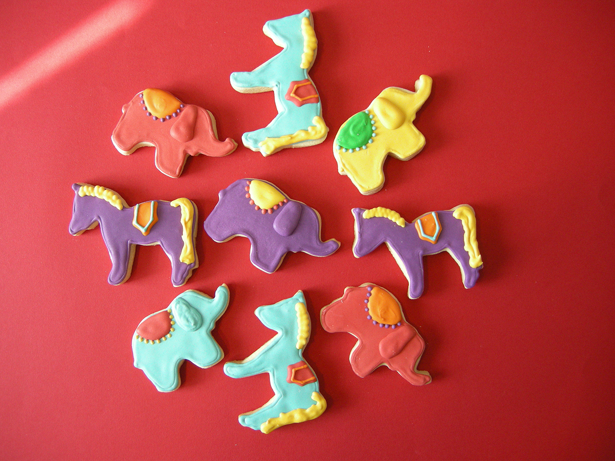 DECORATED CIRCUS SUGAR COOKIES