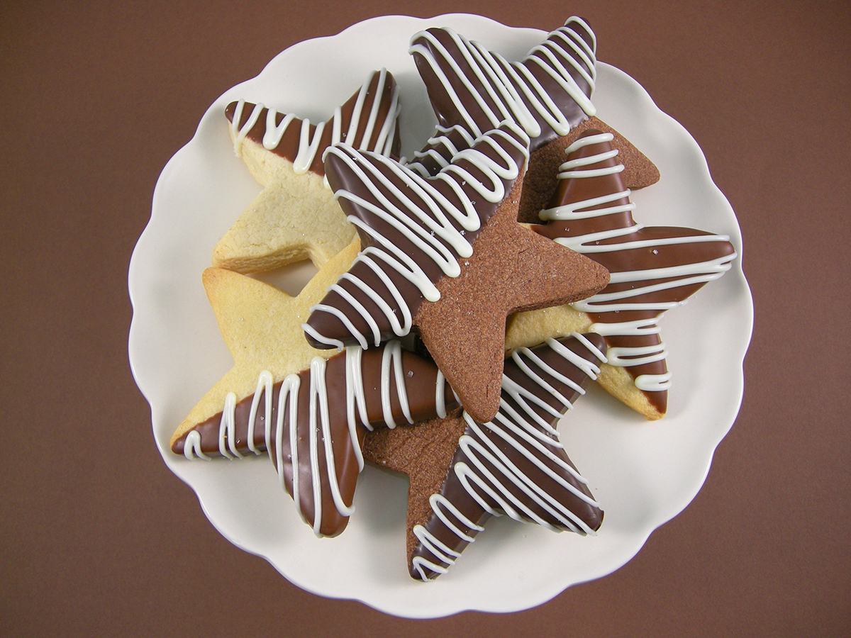 CHOCOLATE DIPPED STAR COOKIES