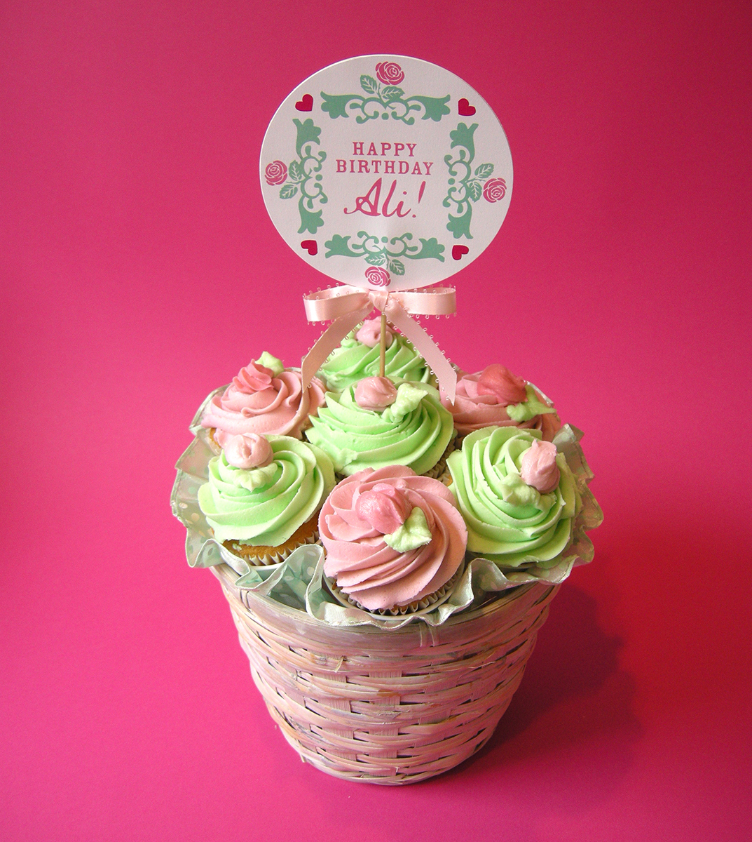 SWEET PEA CUPCAKE BOUQUET