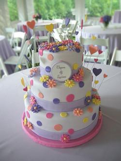 WEDDING SEAL FONDANT CAKE