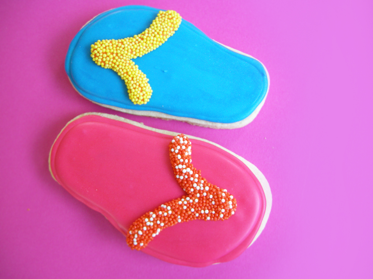 DECORATED FLIP FLOP COOKIES
