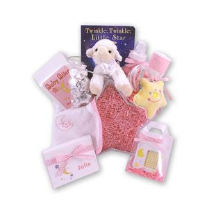 Twinkle Twinkle Little Star Baby Girl Gift Basket