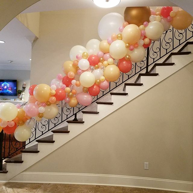 BALLOON GARLAND!! So excited about these!! Made custom for your space with your colors!! Call, text