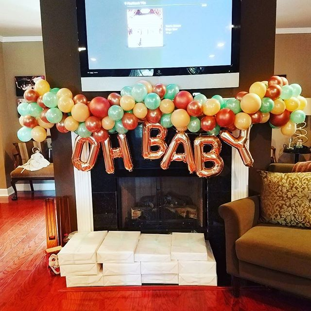 Oh Baby! Organic Balloon Garland for Baby Graham! How about that Rose Gold!_ #bayoudesigns #balloons