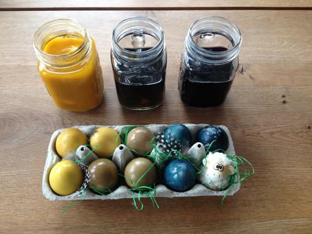 Eierfärben wie zu Oma's Zeiten - mit Farben aus der Natur