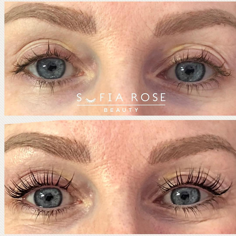 LVL Lash Before & After | Sofia Rose Beauty, Widnes