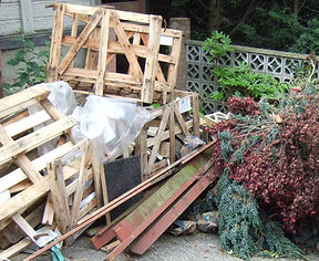 Green waste and general rubbish removal including building debri or old furniture that needs dumping following the correct procedures for recycling and dumping of waste.