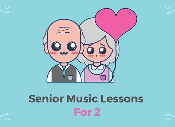 10 X 45 Mins Senior Music Lessons for 2