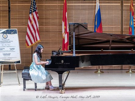 Rachael Tao, Won First Prize at the Little Mozart International Competition