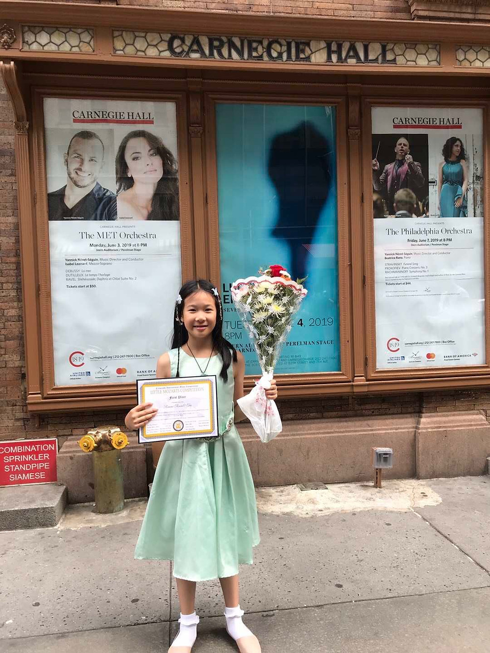 First Place Winner at Little Mozart Competition