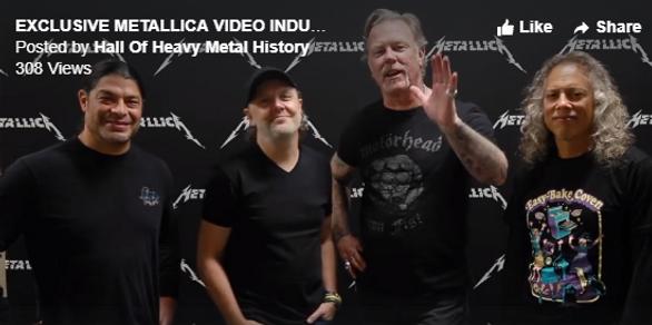 Exclusive Metallica video Inducting Jon & Marsha Zazula into