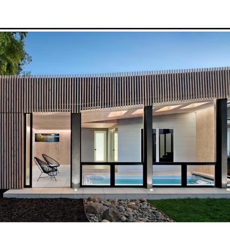 Dezeen | Framestudio uses cedar and plywood for Los Altos Poolhouse in Northern California