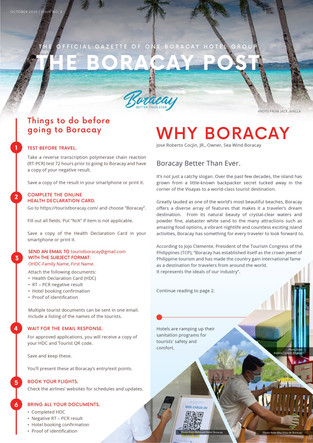 Boracay new Requirements