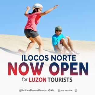 Ilocos Norte Open for Luzon Tourist