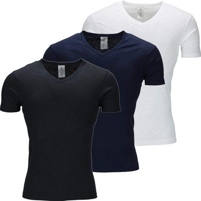 Urban Heritage® V Neck Slub T-Shirt