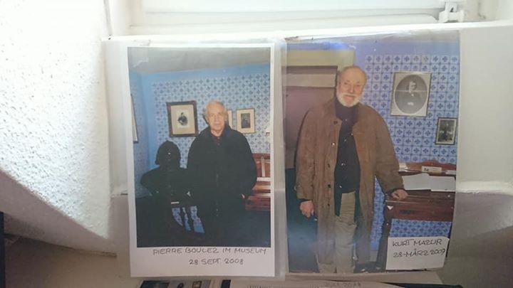 ブラームスハウスを訪れたブーレーズとクルト・マズア