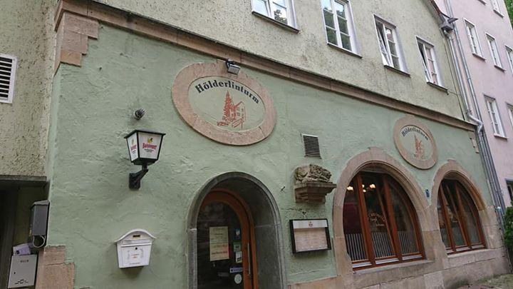 ヘルダーリンの塔の裏のレストラン