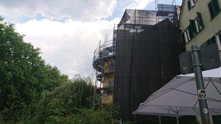 残念ながらヘルダーリンの塔は工事中