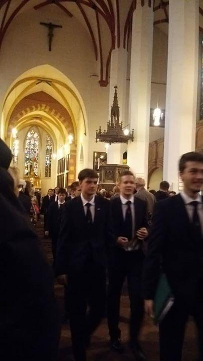 聖トーマス教会合唱団退場