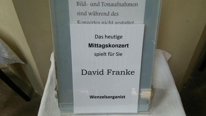 ナウムブルク、ヴェンツェル教会のオルガニストのフランケさんの素晴らしいバッハコンサートを聴く。