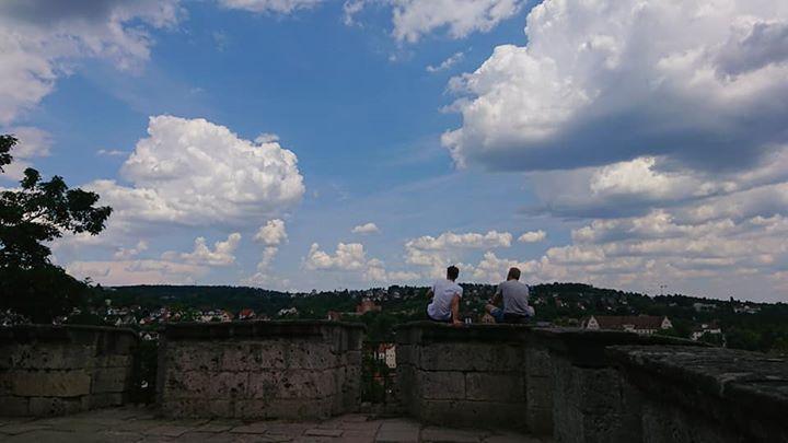 チュービンゲン城の向こう側  ちょっと絵になる見晴らし台