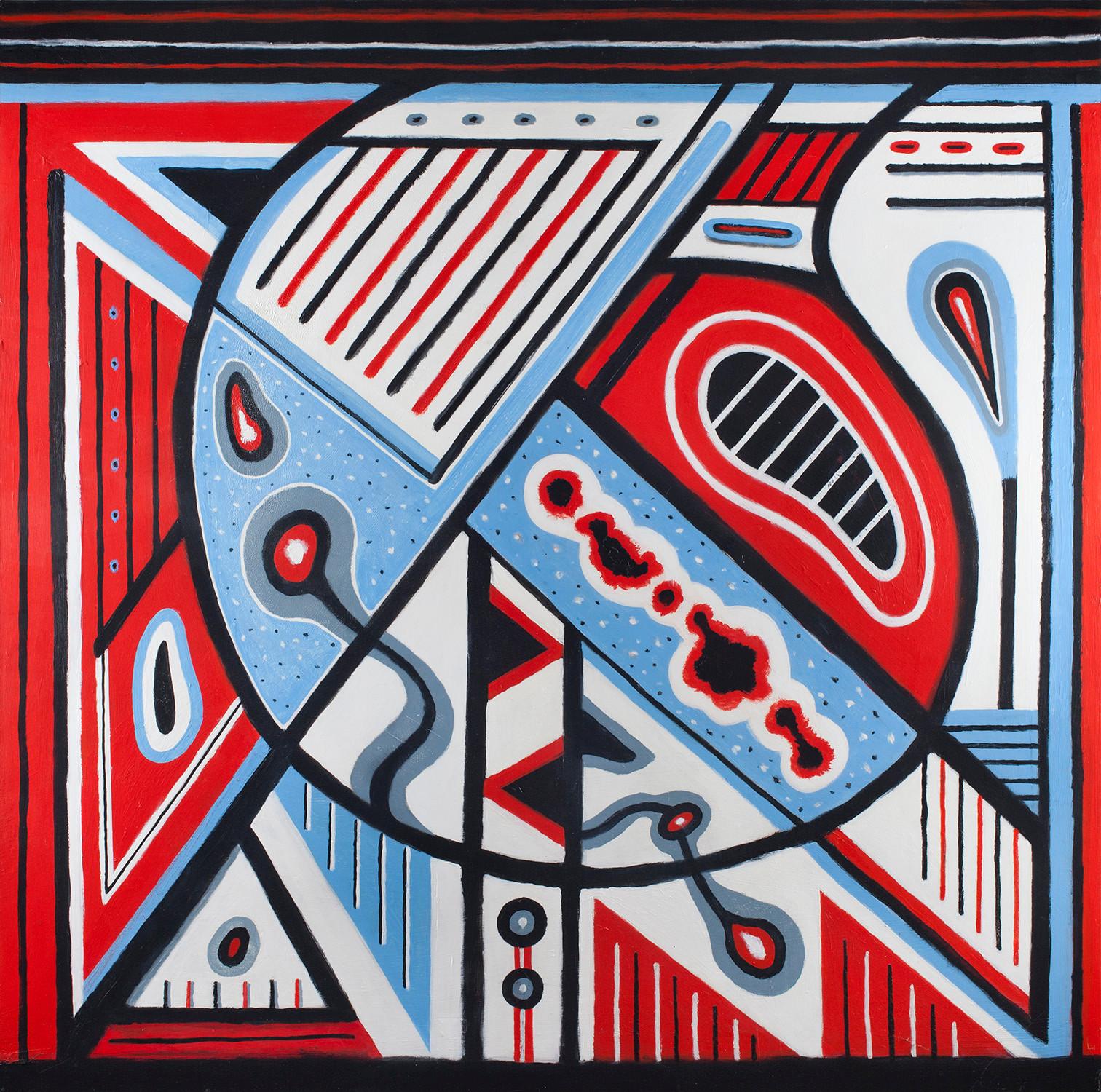 """""""Untitled"""" (4 feet by 4 feet) Acrylic on Masonite"""