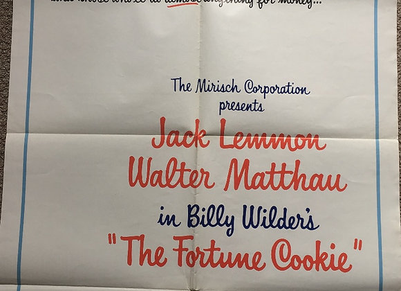 The Fortune Cookie - Vintage Comedy Poster