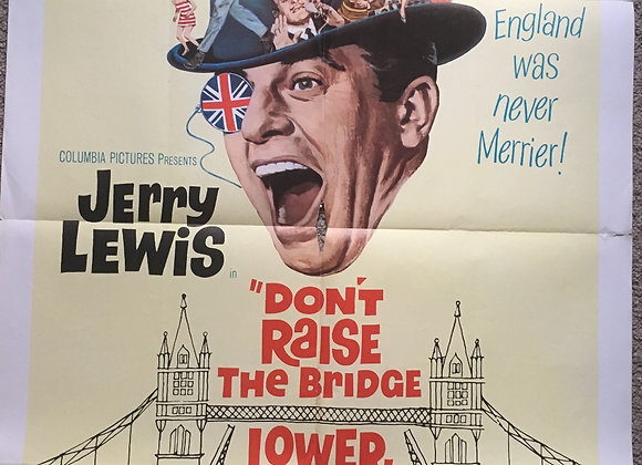 Don't Raise The Bridge, Lower The River - Vintage comedy Poster