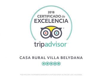 Tripadvisor Certificado de excelencia 20