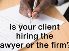 Clients should consider to contract the partner, not the firm