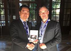 Jaap Bosman TGO Consulting with David Yu Shanghai Bar