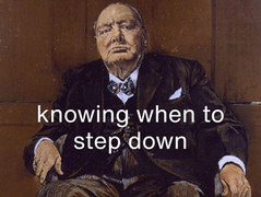 Knowing when it is time to step down
