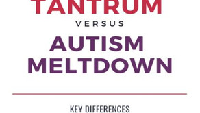 How can you tell the difference between autistic meltdown from a tantrum?