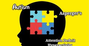Understanding and comparison between Autism, ADHD, & Asperger's.